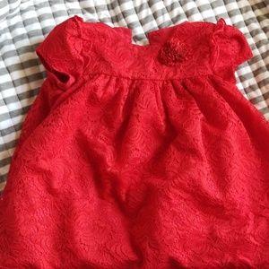 Toddler formal red dress